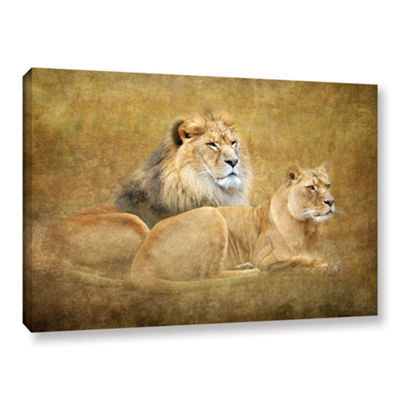 Brushstone Lions Gallery Wrapped Canvas Wall Art