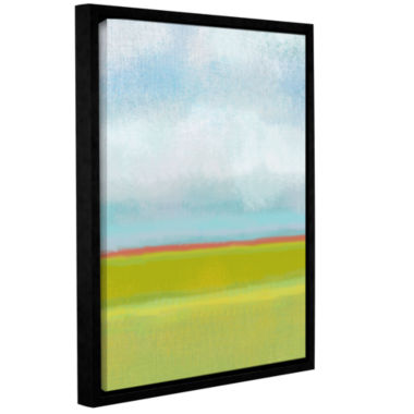 Brushstone Meadow 2 Gallery Wrapped Floater-FramedCanvas Wall Art
