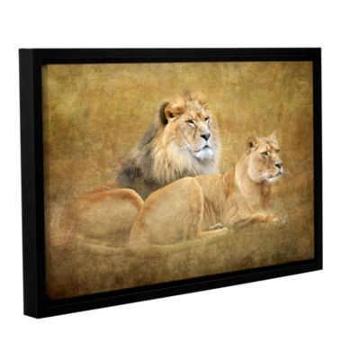 Brushstone Lions Gallery Wrapped Floater-Framed Canvas Wall Art