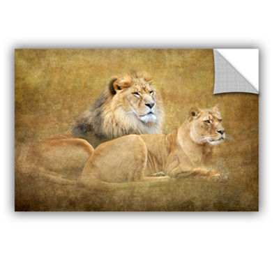 Brushstone Lions Removable Wall Decal