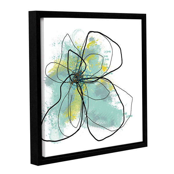 Brushstone Liquid Blue III Gallery Wrapped Floater-Framed Canvas Wall Art