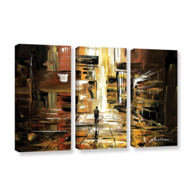 Brushstone Liquid City 3-pc. Gallery Wrapped Canvas Wall Art