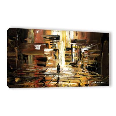 Brushstone Liquid City Gallery Wrapped Canvas Wall Art