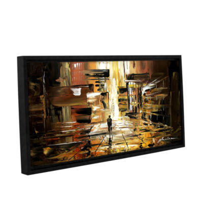 Brushstone Liquid City Gallery Wrapped Floater-Framed Canvas Wall Art