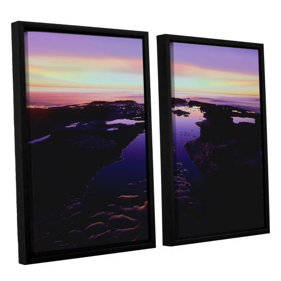 Brushstone Low Tide Afterglow 2-pc. Floater Framed Canvas Wall Art