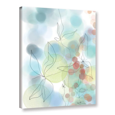 Brushstone Liquid Floral I Gallery Wrapped CanvasWall Art