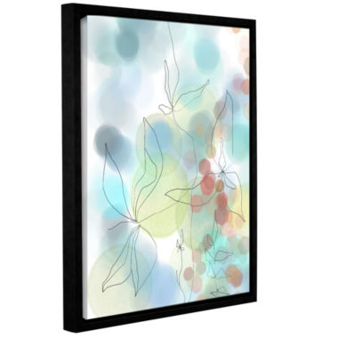 Brushstone Liquid Floral I Gallery Wrapped Floater-Framed Canvas Wall Art