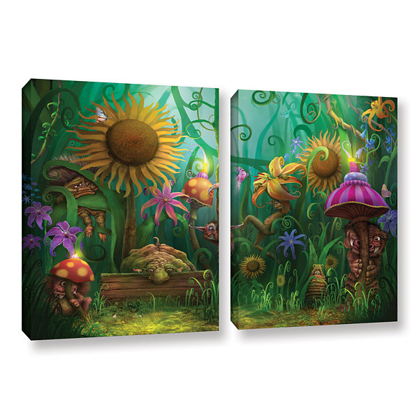 Brushstone Meet The Imaginaries 2-pc. Gallery Wrapped Canvas Wall Art