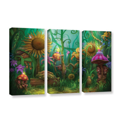 Brushstone Meet The Imaginaries 3-pc. Gallery Wrapped Canvas Wall Art