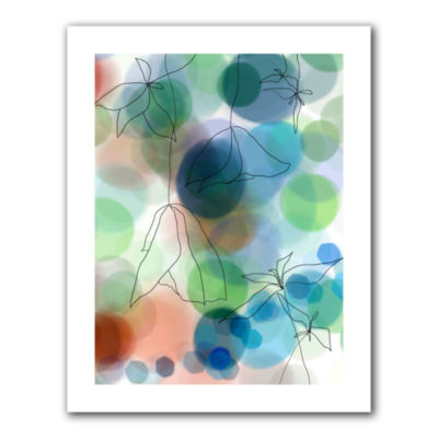 Brushstone Liquid Floral II Canvas Wall Art