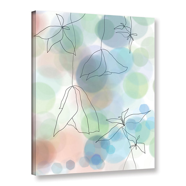 Brushstone Liquid Floral II Gallery Wrapped CanvasWall Art