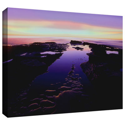 Brushstone Low Tide Afterglow Gallery Wrapped Canvas Wall Art