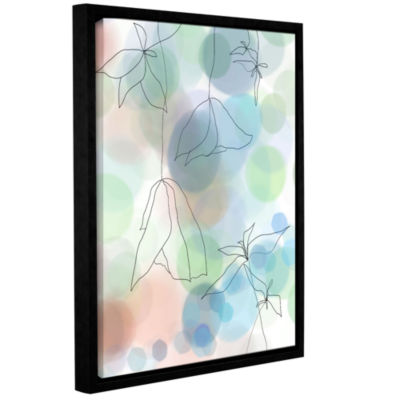 Brushstone Liquid Floral II Gallery Wrapped Floater-Framed Canvas Wall Art