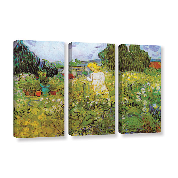 Brushstone Marguerite Gachet In The Garden 3-pc. Gallery Wrapped Canvas Wall Art