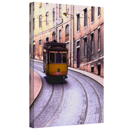 Brushstone Lisbon Transit Gallery Wrapped Canvas Wall Art