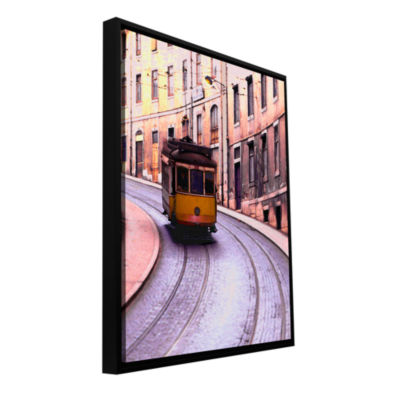 Brushstone Lisbon Transit Gallery Wrapped Floater-Framed Canvas Wall Art