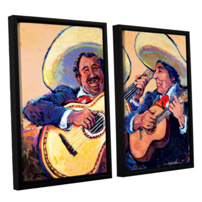 Brushstone Mariachi De Cabo 2-pc. Floater Framed Canvas Wall Art