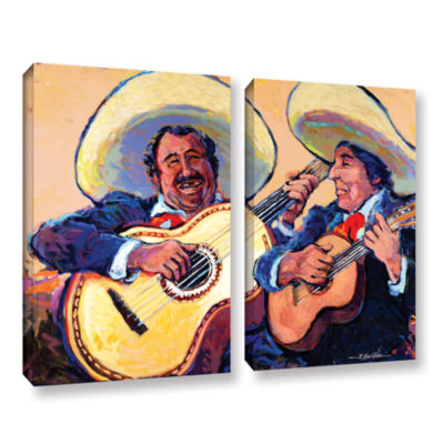 Brushstone Mariachi De Cabo 2-pc. Gallery WrappedCanvas Wall Art
