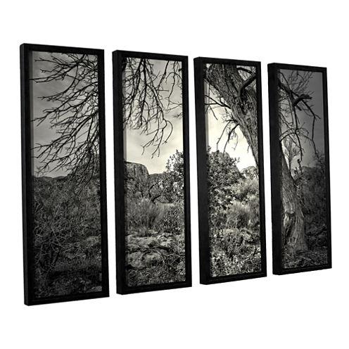 Brushstone Listen To Whispers 4-pc. Floater FramedCanvas Wall Art