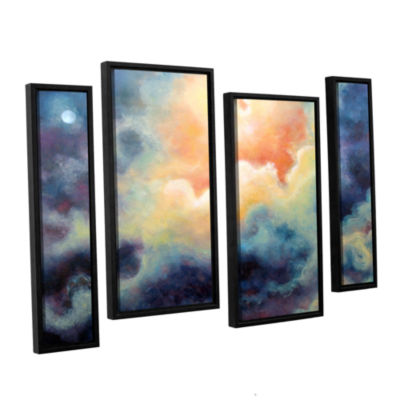 Brushstone Marina 4-pc. Floater Framed Staggered Canvas Wall Art