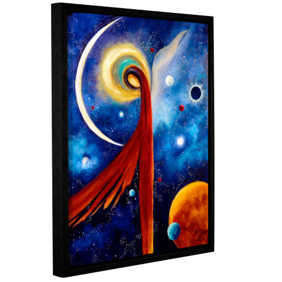 Brushstone Lunar Angel Gallery Wrapped Floater-Framed Canvas Wall Art