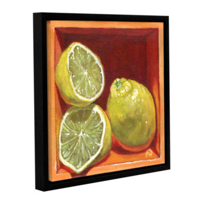 Brushstone Luscious Lemon Gallery Wrapped Floater-Framed Canvas Wall Art