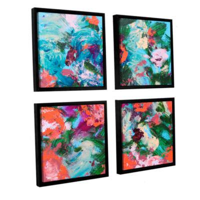 Brushstone Luxemburg Garden 4-pc. Square Floater Framed Canvas Wall Art