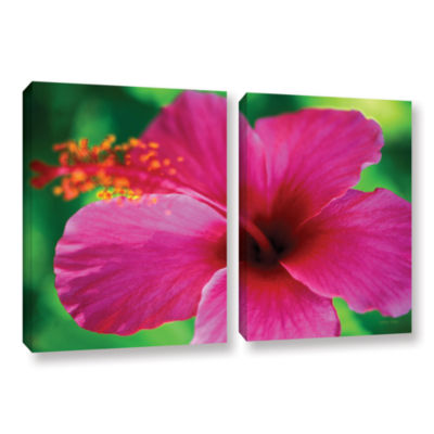 Brushstone Maui Pink Hibiscus 2-pc. Gallery Wrapped Canvas Wall Art