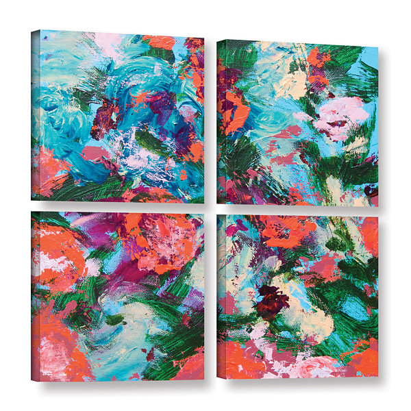 Brushstone Luxemburg Garden 4-pc. Square Gallery Wrapped Canvas Wall Art