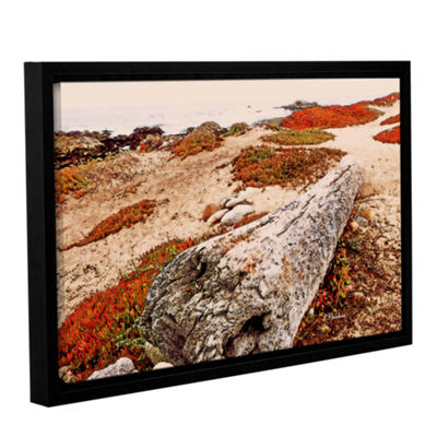 Brushstone Log On Pebble Beach Gallery Wrapped Floater-Framed Canvas Wall Art
