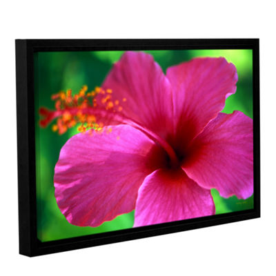 Brushstone Maui Pink Hibiscus Gallery Wrapped Floater-Framed Canvas Wall Art