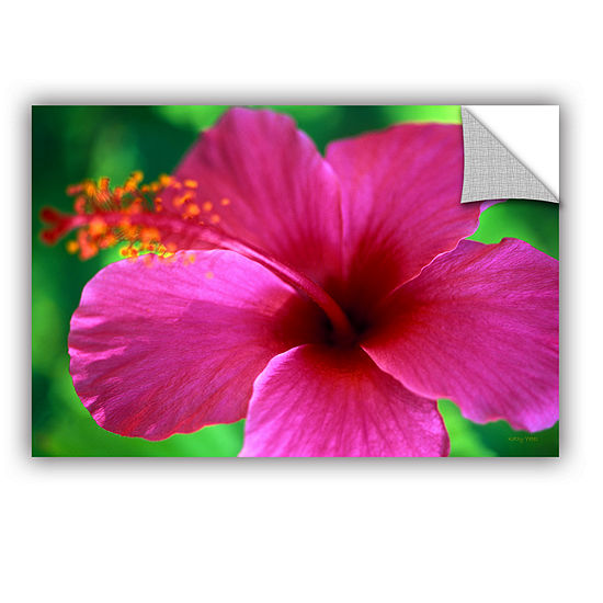 Brushstone Maui Pink Hibiscus Removable Wall Decal