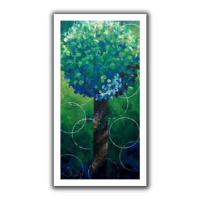Brushstone Lolli Pop Green Canvas Wall Art
