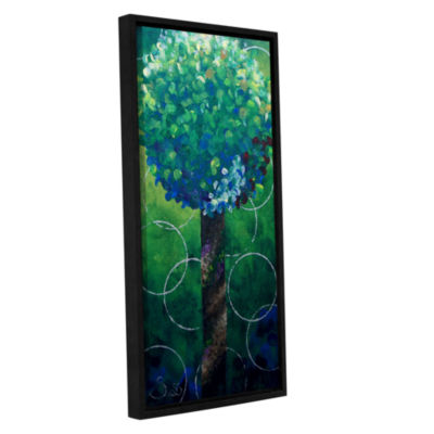 Brushstone Lolli Pop Green Gallery Wrapped Floater-Framed Canvas Wall Art