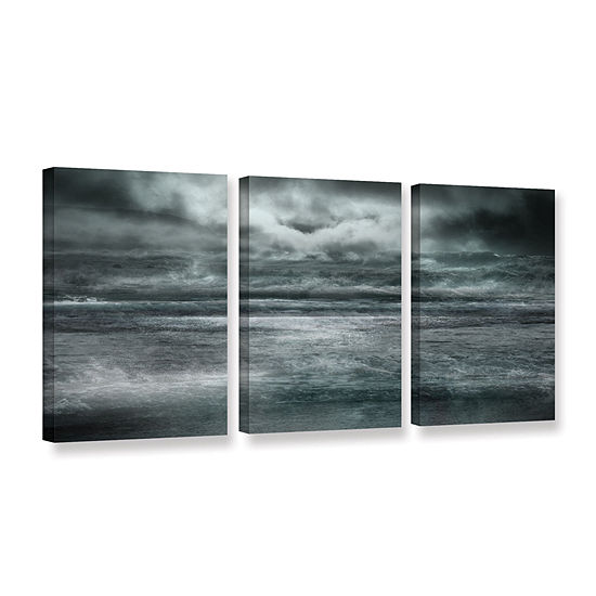 Brushstone Maelstrom 3-pc. Gallery Wrapped Canvas Wall Art