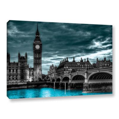 Brushstone London (Big Ben) Gallery Wrapped CanvasWall Art