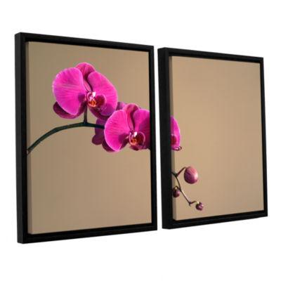 Brushstone Magenta Orchid 2-pc. Floater Framed Canvas Wall Art