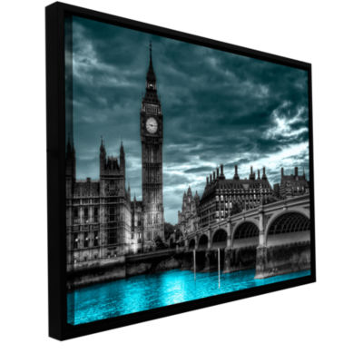 Brushstone London (Big Ben) Gallery Wrapped Floater-Framed Canvas Wall Art