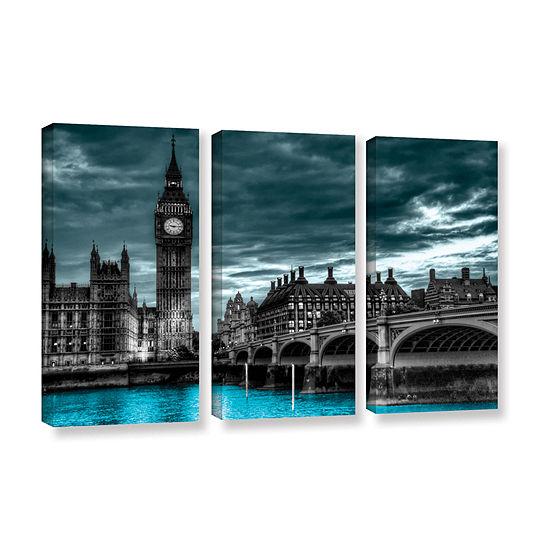 Brushstone London (Big Ben) 3-pc. Gallery WrappedCanvas Wall Art