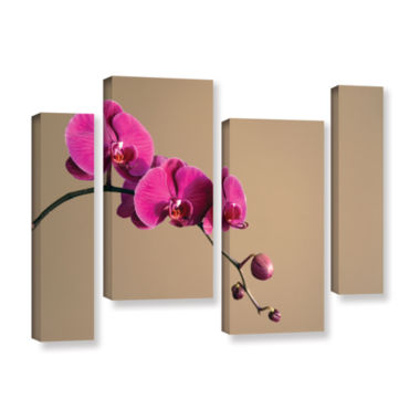 Brushstone Magenta Orchid 4-pc. Gallery Wrapped Staggered Canvas Wall Art