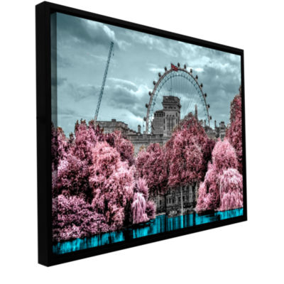 Brushstone London II Gallery Wrapped Floater-Framed Canvas Wall Art