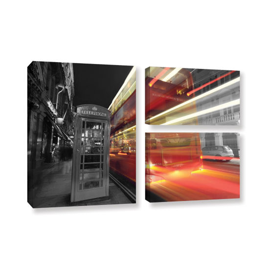 Brushstone London III 3-pc. Flag Gallery Wrapped Canvas Wall Art