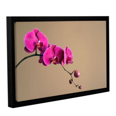 Brushstone Magenta Orchid Gallery Wrapped Floater-Framed Canvas Wall Art