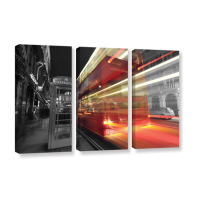 Brushstone London III 3-pc. Gallery Wrapped CanvasWall Art