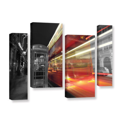 Brushstone London III 4-pc. Gallery Wrapped Staggered Canvas Wall Art