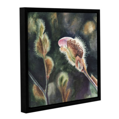 Brushstone Magnolia Bud Gallery Wrapped Floater-Framed Canvas Wall Art