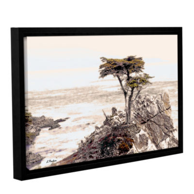 Brushstone Lone Cypress 3 Gallery Wrapped Floater-Framed Canvas Wall Art