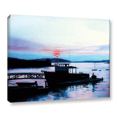 Brushstone Maine Fishing Boat Gallery Wrapped Canvas Wall Art