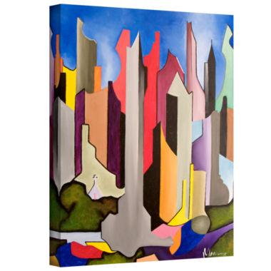 Brushstone Maximum City Gallery Wrapped Canvas Wall Art
