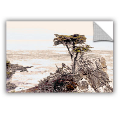 Brushstone Lone Cypress 3 Removable Wall Decal